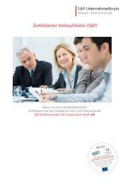 Seminar Verkaufsleiter - Zertifizierter Verkaufsleiter - S&P Lehrgang