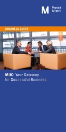 Munich Airport Business Guide