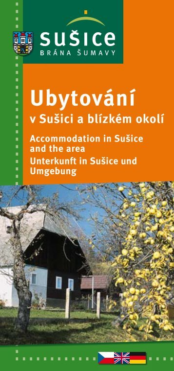 Accommodation in Sušice and the area