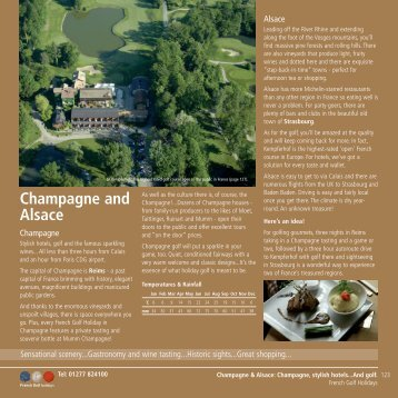 Golf Holidays Champagne-Alsace
