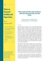 Notes on Financial Stability and Supervision