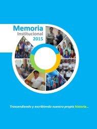 Memorias Institucional 2015