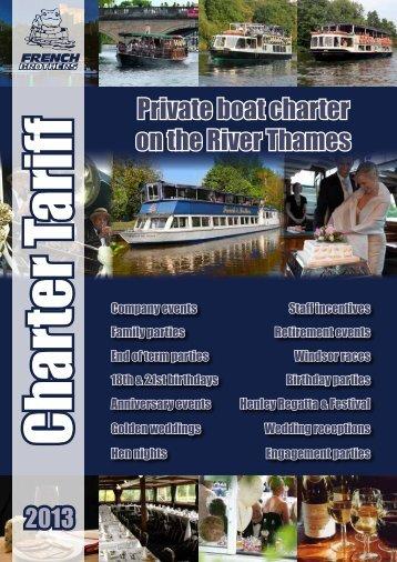 Private charter tariff