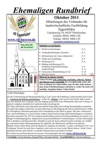Oktober 2011 - Verband für landwirtschaftliche Fachbildung in ...