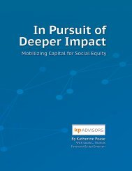 In Pursuit of Deeper Impact