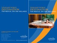 Thailand World Destination for Medical Spa and Wellness