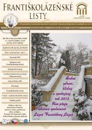 Františkolázeňské listy 1/2013