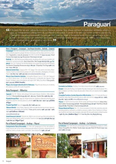 Sitios imperdibles del Paraguay