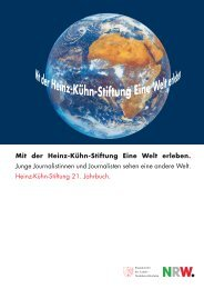 Mit der Heinz-Kühn-Stiftung Eine Welt erleben. Junge ...