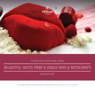 Hilton Abu Dhabi Food & Beverage Offers February