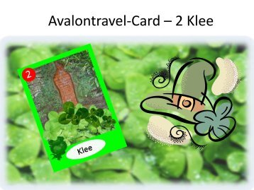 Avalontravel-Card – 2 Klee