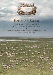 Botswana Safari Wet Season