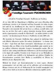 Chronik der Freiwilligen Feuerwehr  Puchkirchen am Trattberg