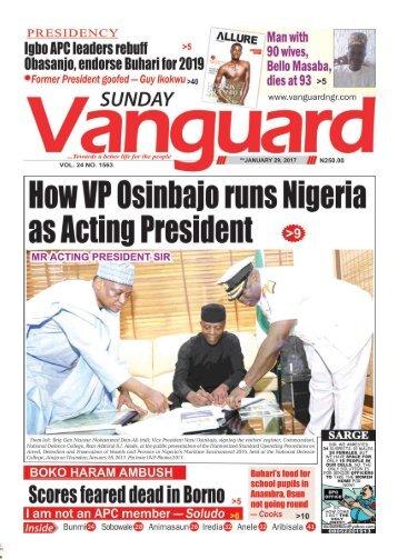 29012017 - How VP Osinbajo runs Nigeria as Acting President