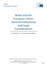 General Institutional and Legal Considerations