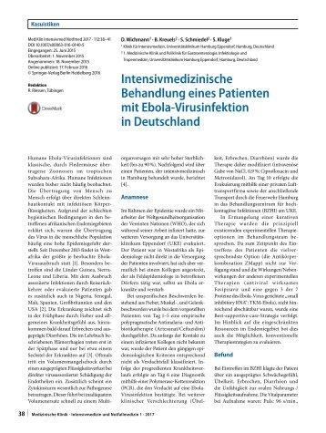 06 Intensivmedizinische Behandlung eines Patienten mit Ebola-Virusinfektion