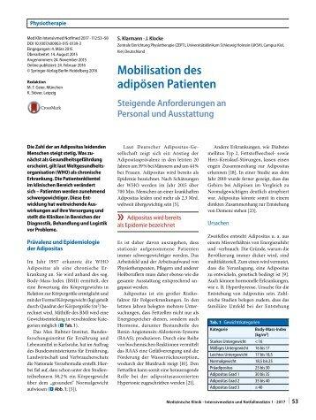 10 Mobilisation des adipösen Patienten