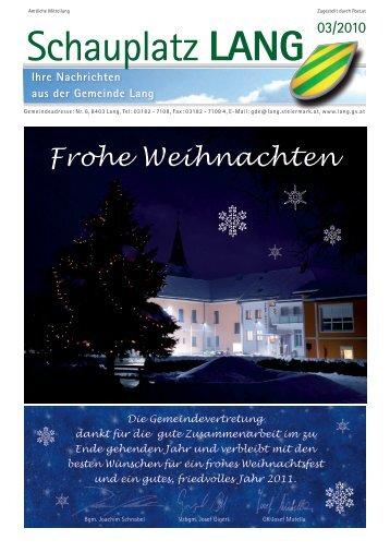Schauplatz Lang 2010/03