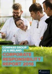 CORPORATE RESPONSIBILITY REPORT 2016