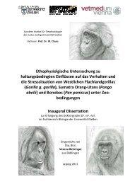 Ethophysiolgische Untersuchung zuhaltungsbedingten Einflüssen ...