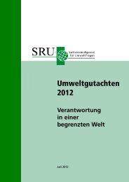 rmweltgutachten 2012 - Zukunftsweisende Förderung von ...
