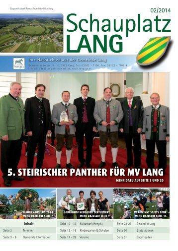 Schauplatz Lang 2014/02