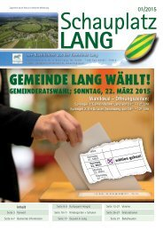 Schauplatz Lang 2015/01