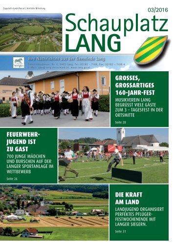 Schauplatz Lang 2016/03