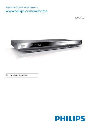 Philips 7000 series Lecteur Blu-ray / DVD - Mode d'emploi - SWE