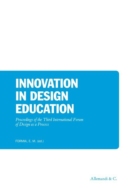 Executive Design Mobili Contemporanei.Innovation In Design Education Allemandi
