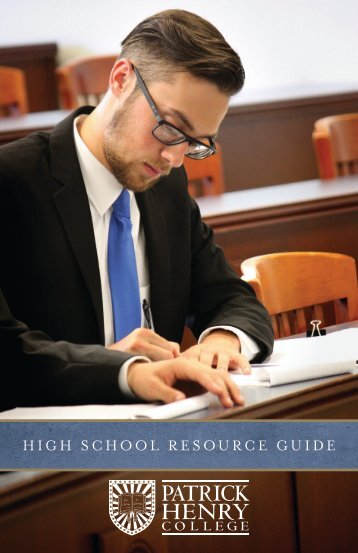 HIGH SCHOOL RESOURCE GUIDE