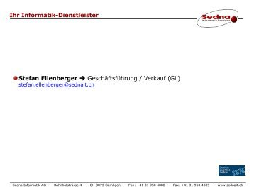 Ihr Informatik-Dienstleister Stefan Ellenberger - Sedna Informatik AG
