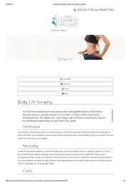 Body Lift Surgery, Body Lift Surgery Sydney