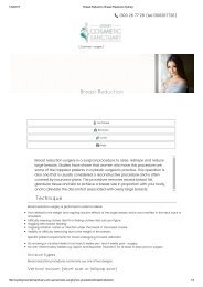 Breast Reduction, Breast Reduction Sydney