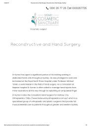 Reconstructive Hand Surgery, Reconstructive Hand Surgery Sydney