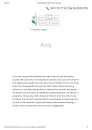 The Body Page at Sydney Cosmetic Sanctuary