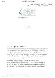 The Face Page at Sydney Cosmetic Sanctuary