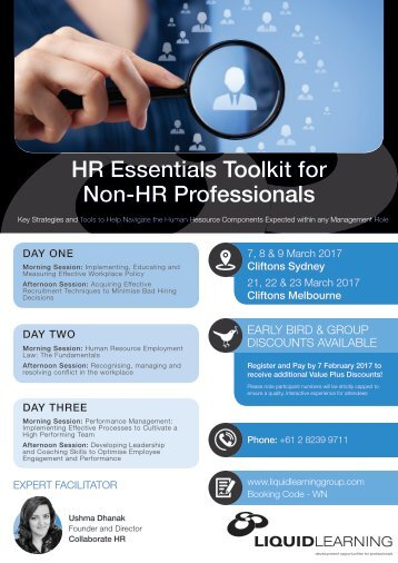 HR Essentials Toolkit for Non-HR Professionals