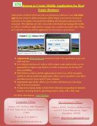 Reason to Create Mobile Application for Real Estate Business