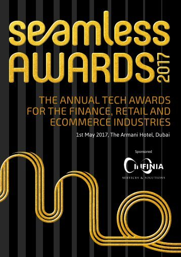 THE ANNUAL TECH AWARDS FOR THE FINANCE RETAIL AND ECOMMERCE INDUSTRIES
