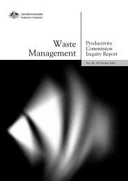 Waste Management - Productivity Commission