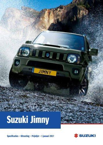 Suzuki Jimny specificatieprijslijst januari 2017