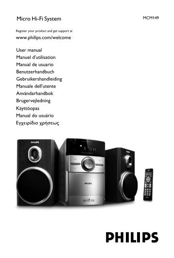 Philips Microchaîne hi-fi - Mode d'emploi - NLD