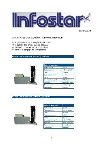 Autres modèles d'agrégats à haute pression (pdf - Star Micronics AG