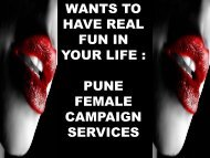 Gauri Anand-Top elegant High Class female Campaign Services Pune