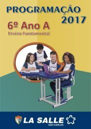 Manual de Programação 2017 - 6ª Ano A