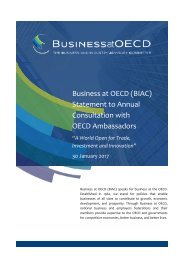 Business at OECD (BIAC) Statement to Annual Consultation with OECD Ambassadors