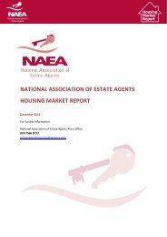 NATIONAL ASSOCIATION OF ESTATE AGENTS HOUSING MARKET REPORT