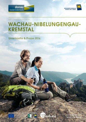 Wachau Unterkünfte & Preise 2014