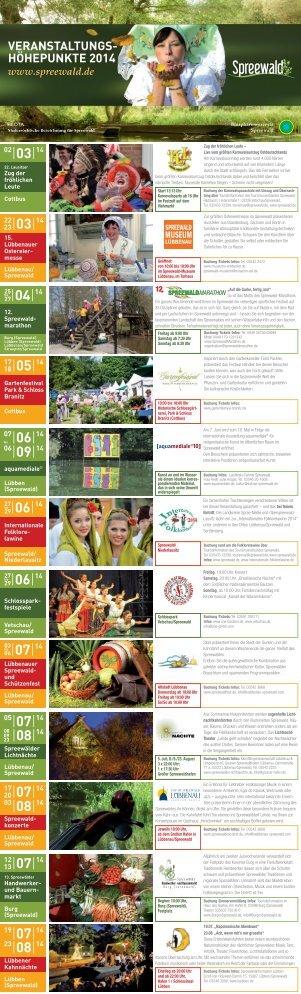 Veranstaltungshöhepunkte 2014